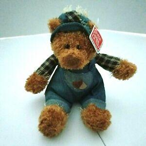 Gund Teddy Bear Tumble Weed Fall Plush Stuffed Animal Denim Overalls Acorn New