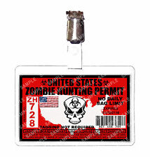 Zombie United States Hunting Permit ID Badge Cosplay Prop Comic Con Comic Con