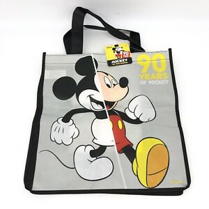 Disney MICKEY MOUSE Reusable Shopping TOTE Christmas GIFT BAG Stocking 90 Years