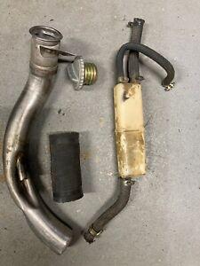 porsche 911 930 gas tank fuel filler neck w/cap w/hose w/container 74-83