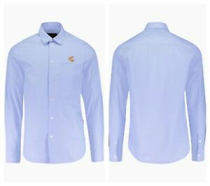 """AUTHENTIC VIVIENNE WESTWOOD ANGLOMANIA SKY ORB CHEST TWILL SHIRT. MEDIUM - 15½""""."""