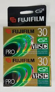 NIP Fujifilm VHSC TC-30 pro high grade video cassette tapes blank sealed 2 pack
