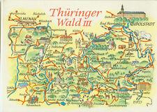 Alte topografische Postkarte Thüringer Wald II 1973