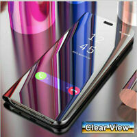 Smart Mirror sleep wake function Flip Stand Case Cover for Samsung Galaxy models