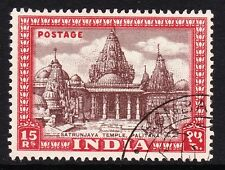 INDIA 1949-52 15r BROWN & CLARET SG 324 FINE USED.