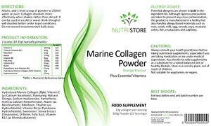 Marine Collagen Powder 300g for Anti Ageing & Skin Hydration - Orange Flavour