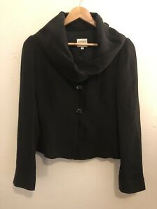 RRP$750 ARMANI COLLEZIONI Size 44 Statement Collar Jacket