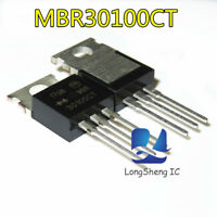 10pcs MBR30100 MBR30100CT Power Rectifier TO-220 ON new