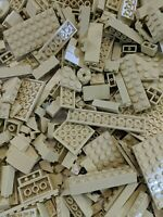 50 Lego Pieces Bulk Lot of Tan Bricks Plates and Parts Castle Star Wars Parts