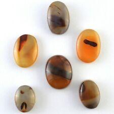 6 Pcs Yemen Authentic Aqeeq Aqiq (Agate) Stones, Yemeni Loose Akik Hakik beads
