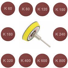 Schleifscheibe Schleifteller Schleifpapier 50mm Dremel Proxxon Körnug 60 -> 800