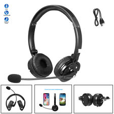 Bluetooth Wireless Headset Noise Cancelling Truck Driver Headphone Over Ear Mic