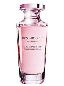 rose absolue eau parfum 50 ml de yves rocher pour femme pleine sans boîte