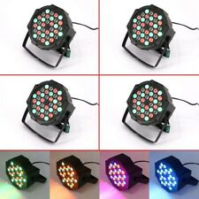 4PCS 36 LED Par Lights Stage Lighting 72W RGB Remote DMX Wash Can DJ Club Party