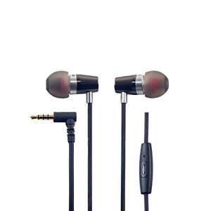 ROCK JAW AUDIO  Alfa Genus V2 Earphones with In-Line Mic, Black