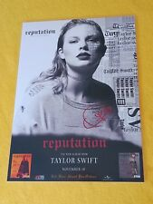 TAYLOR SWIFT - REPUTATION -  SIGNED AUTOGRAPHED - Laminated Poster