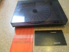 BANG & OLUFSEN B&O BEOGRAM RX2 TURNTABLE AND DOCUMENTATION IN ORIGINAL PACKAGING