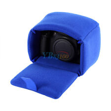 Shockproof Mirrorless DSLR Camera Lens Bag Padded Pouch Protect Small Case Blue