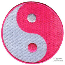 PINK YIN YANG embroidered iron-on PATCH karate tai chi MARTIAL ARTS applique new