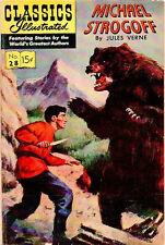 "CLASSICS ILLUSTRATED #28 (HRN 115) G, MICHAEL STROGOFF, 2"" rip on cvr, Comics"
