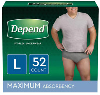 Depend Fit-Flex Incontinence Underwear for Men - Large 17, 28, 40, 52 Ct ✔️✔️✔️