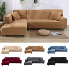 2pcs Sofa Cover L Shape Couch Slipcover Stretch Soft 2+2/2+3/3+3/3+4 Seater