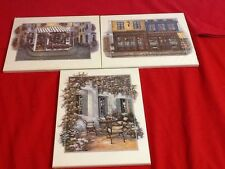 Beautiful Wooden Decorative Landscape Picture Prints Set Of Three
