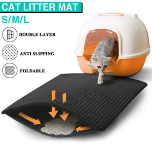 Double-Layer Design Cat Litter Trapping Mat Honeycomb Foldable Trap Pad Tray