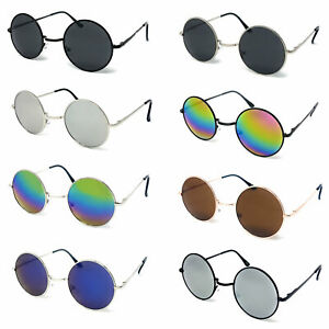Round Lens Sunglasses Mens Womens Ladies John Lennon Small Circle Ozzy Hippie UV