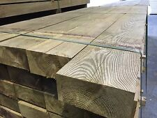 "100 x 200 x 2400mm New Green Tannalised Treated Railway Sleeper (4"" x 8"" x 8ft)"