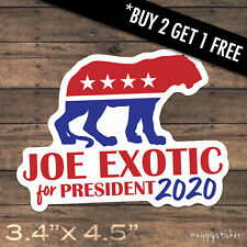 Joe Exotic 2020 Sticker -  Tiger King Election President Campaign Decal  Window