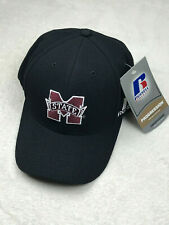 Mississippi State Bulldogs Embroidered Hat Flex Fit One Size Black NEW