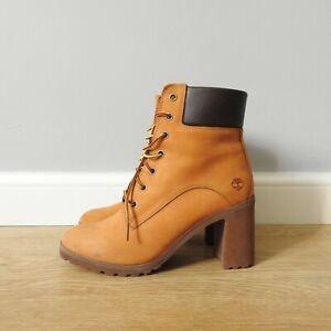 Timberland Allington Heel Suede Tan Boots size 5 UK Womens A1HLS