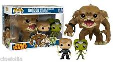 Star Wars Rancor with Luke Skywalker & Slave Oola Pop! Funko 3-pack Vinyl figure