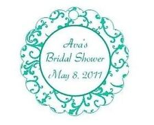 10 TIFFANY BLUE FAVOR TAGS - BRIDAL SHOWER, BABY SHOWER, BIRTHDAY, BAPTISM...