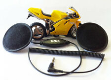 Tork X2 Motorcycle Motorbike Helmet Speakers Stereo Volume 3.5mm audio