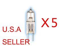 5 Bulbs 12V Volt 35W 35 Watt JC GY6.35 Base Halogen Light Bulbs Clear Bi-Pin