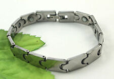 Gatik BR1024 Ladies Tungsten Carbide Faceted Jigsaw Link Magnetic 7'' Bracelet