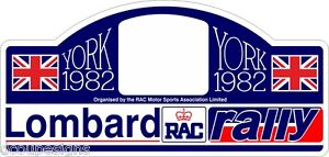 1982 LOMBARD RALLY PLATE DECAL