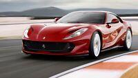 """Ferrari 812 Superfast Auto Car Art Silk Wall Poster Print 24x36"""""""