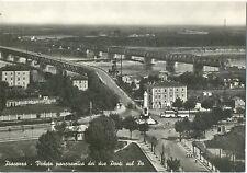 PIACENZA - VEDUTA PANORAMICA DEI DUE PONTI SUL PO 1956