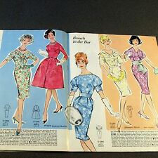 Modezeitschrift GÜNTHER MODEN 1/1960 - 2 Schnittmuster-Bg 50er Jahre FASCHING