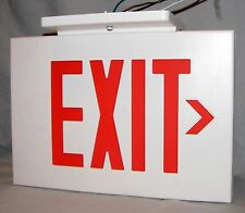 Exit Sign Emergency Light w/ Mount Dual Lite Hubbell AC + Battery Backup CV3REW