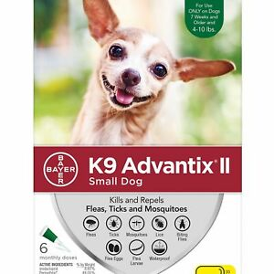 Bayer K9 Advantix II Under 10lbs  six pack  six months EPA No expiration