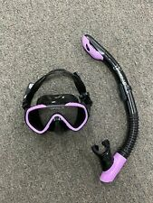 Preowned Kid's Diving Set Scuba Goggles and Snorkeling Mask Tube (Purple)