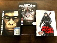 Planet of the Apes Trilogy (Rise/Dawn/War) Blu-ray + Slipcovers! Dawn Has 3D!