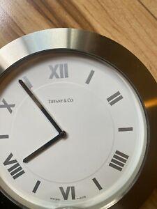 Silver Tiffany Desk Clock