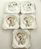 Vintage Lot of 5 West Pac Japan Kitschy Cigar Cigarette Ashtray Kitty Cats Dogs