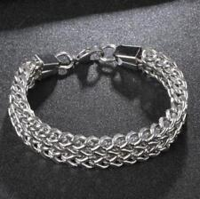 "8.5"" Mens Stainless Steel 12mm Franco Cuban Link Chain Punk Bracelet #B532"