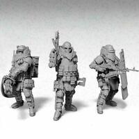 3 Pcs Heavily Armored Soldier Of the Future Resin Scale Ki U1G0 Model C1I1 L6Z0